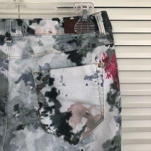 Zara Jeans - ZARA (GUC) | Watercolor Printed Skinny Pants